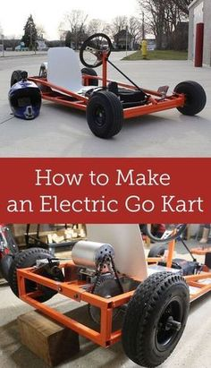 to Make an Electric Go Kart Transform an old gas powered go kart into an electric go kart.Transform an old gas powered go kart into an electric go kart. Electric Kart, Electric Trike, Electric Vehicle, Electric Power, Go Kart Frame, Homemade Go Kart, Go Kart Plans, Diy Go Kart, Drift Trike