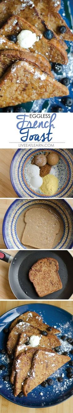 Eggless vegan french toast made possible (and delicious) with nutritional yeast // Live Eat Learn