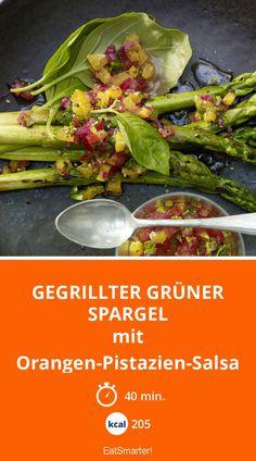 Gegrillter grüner Spargel - mit Orangen-Pistazien-Salsa - smarter - Kalorien: 205 Kcal - Zeit: 40 Min. | eatsmarter.de
