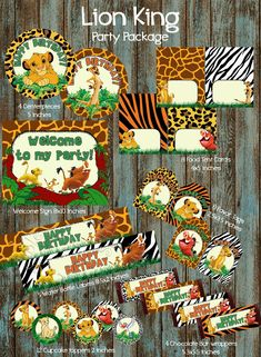 Lion King Party Package, Lion King Birthday Party, Lion King With Lion King Party Decorations - Best Home Decor Ideas Lion King Theme, Lion King Party, Lion King Birthday, First Birthday Parties, First Birthdays, Birthday Ideas, Birthday Decorations, 2nd Birthday, Theme Bapteme