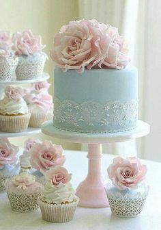 "i want a light blue wedding cake for my ""something blue"" :)"