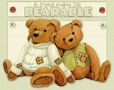 ❤️A friend makes life bearable~ from my Annie