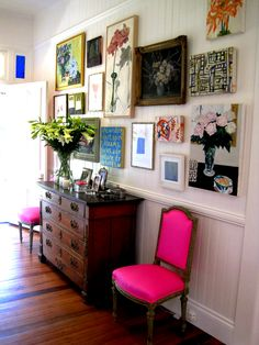 picture wall-good for all those miscellaneous frames and canvases I don't have a specific spot for..