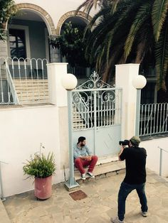 Filming in Kalamata, Greece! Chef Michalis when he is not cooking he is a great Drum player! ‪#‎thecookingodyssey‬ ‪#‎yolenistaste‬ ‪#‎chef‬