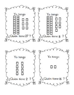 Comparing numbers worksheet in spanish using base ten blocks i have who has in spanish base ten blocks 1 30 for ccuart Images