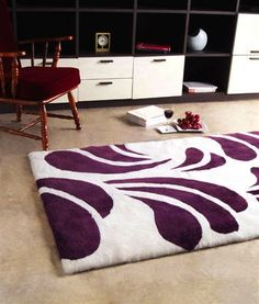 Image of Baroque 03 8ftx11ft6in Shearling Area Rug in Cherry design by Bowron