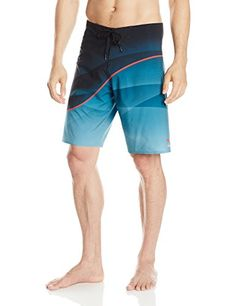 Scotch  Soda Mens Long Length Swim Shorts in Solid  All Over Printed Navy Swim Trunks SM * Click on the image for additional details.