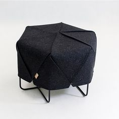 Rombi  Stool by Lounge, Czech Republic.  299,99 Euro.  100% wool felt in graphite, eucalyptus, taupe, or marble.