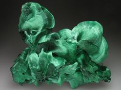 libutron: Primary Malachite | ©Crystal Classics Mashamba West Mine, DR Congo. Malachite is a green, very common secondary copper mineral with a widely variable habit.