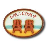 "Found it at Wayfair - ""Welcome"" Chairs Outdoor Sign"