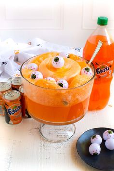 Orange sherbert and orange soda!