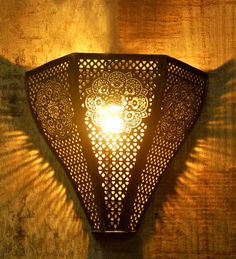 Buy Logam Vintage Moroccan Uplighter Black and Golden Iron Upward Wall Lamp  Online: Shop from wide range of Wall Lights Online in India at best prices. ✔Free Shipping✔Easy EMI✔Easy Returns