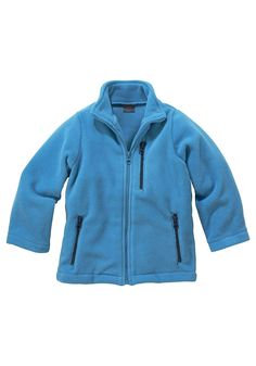 Produkttyp , Fleecejacke, |Qualitätshinweise , Hautfreundlich Schadstoffgeprüft, |Materialzusammensetzung , Obermaterial: 100% Polyester, |Material , Fleece, |Farbe , Blau, |Passform , Basic-Form, |Schnittform/Länge , hüftbedeckt, |Ausschnitt , Kragen, |Kragen , Stehkragen, |Verschlussart , Reißverschluss verdeckt, |Ärmelstil , Langarm, |Armabschluss , Kante abgesteppt, |Taschen , Reißverschlus...