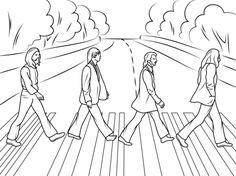 Disco Abbey Road de Los Beatles Dibujo para colorear. Categorías: Estrellas del Pop. Páginas para imprimir y colorear gratis de una gran variedad de temas, que puedes imprimir y colorear.