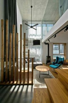 Scandinavian loft Apartment interior Design With Perfect floor plan - Home Professional Decoration Glass Room Divider, Room Divider Walls, Diy Room Divider, Divider Ideas, Room Divider Shelves, Bamboo Room Divider, Bookcase Shelves, Bookcases, Fabric Room Dividers