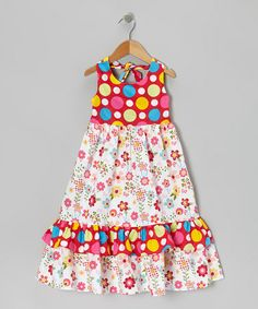 Take a look at this Pink Dot & Floral Halter Dress - Infant, Toddler & Girls by Sew Childish on #zulily today!
