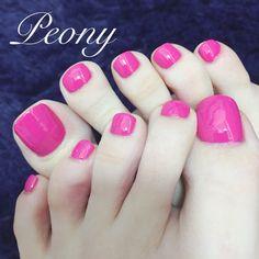 foot polish*hot pink♡