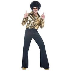 d7e6e42bddb California Costumes Mens Disco King 1970s Costume Size XL 1970s Costumes