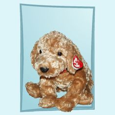 2002 Ty Classic Cody the Brown Puppy Dog Plush Toy
