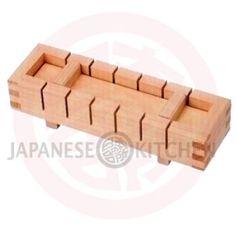 Wooden Sushi Press (Oshizushi Box) - Narrow Oshi Sushi, Low Carb Sushi, Vegan Sushi, Food Presentation, Dinner Tonight, Japanese, Box, Crafts, Places