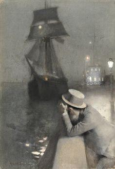 Albert Lynch (1851-1912), Pierre évoquant le souvenir de Maréchal.