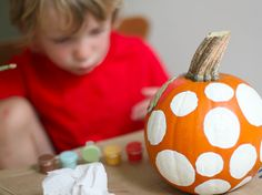 Painted Pumpkins-great simple craft for the kiddos!