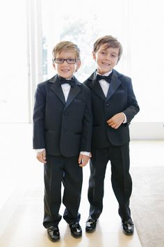 Littles in tuxedos...Photography By / http://sylviegilphotography.com,Event Planning By / http://kathyhigginsweddings.com