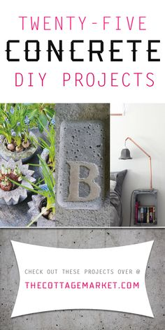 Do the house numbers and inbed in the grass by the street. 25 Creative Concrete Projects - The Cottage Market