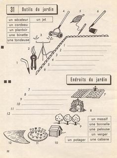 Les outils du jardin - exercices p32 by pilllpat (agence eureka), via Flickr