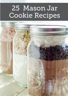 25 Mason Jar Cookie Recipes  These awesome jars make great gifts for almost anything! The cranberry-nut cookies with chopped pecans are sure to be a hit!