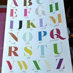 Digitaldruck - Plakat, Das ABC der Farb A121 - ein Designerstück von la-parenthese-enchantee bei DaWanda