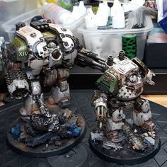 Dreadnought party #leviathan#contemptordreadnought #deathguard #warhammer30k#spartan #spartanassaulttank #landraider #warhammer40k #fortheemperor #forgeworld#librarian #spacemarine#banner #horusheresy#dreadnought #nurgle #hardforheresy#wearelegion#paintingforgeworld#wip#soon #imnotdead#tank #rhino