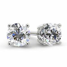 5f3423deb Forever One Moissanite Stud Earrings. Diamond Earrings For WomenDiamond  StudsDiamond JewelryNatural DiamondsWhite Gold DiamondsRound ...