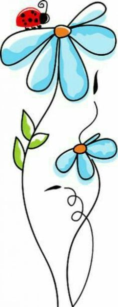 Trendy flowers pattern drawing doodles coloring pages Ideas Clip Art, Doodle Art, Bird Doodle, Arts And Crafts, Paper Crafts, Rock Art, Painted Rocks, Embroidery Patterns, Embroidery Art
