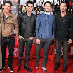 The men of Teen Wolf on the MTV Movie Awards 2014 Red Carpet - Tyler Posey, Dylan O'Brien, Tyler Hoechlin,  Ian Bohen