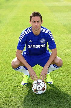 Chelsea's Nemanja Matic during the team photocall at the Cobham Training Ground on September 2014 in Cobham England Chelsea Fc, Chelsea Football, Soccer Pictures, September 2014, Blues, Pride, Fans, England, Training