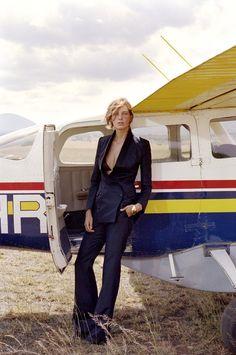 Model Daria Werbowy shot by Cass Bird on location in Kenya. Styled by Lori Goldstein.