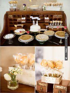 wedding dessert station    Photographer:   Event Designer: | CHECK OUT MORE IDEAS AT WEDDINGPINS.NET | #weddingcakes
