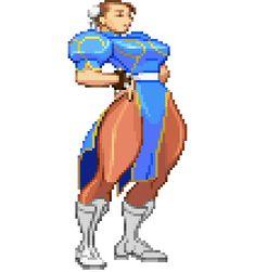 Chun Li, Street Fighter Characters, Female Characters, Female Character Design, Game Character, Marvel Gif, Cool Pixel Art, Super Street Fighter, Pixel Animation