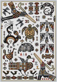 Native American Indian - Cross Stitch Patterns & Kits