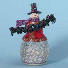 Jim Shore Evergreen Snowman Figurine ~ 4027712