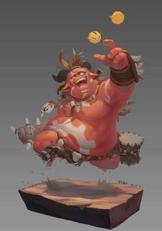 Monster by Elder. Fantasy Character Design, Character Drawing, Character Design Inspiration, Character Illustration, Game Character, Character Concept, Concept Art, Chibi Characters, Cute Characters