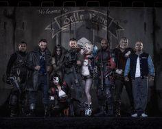 Suicide Squad. Slipknot, captain boomerang, enchantress, katana, rick flags, harley quinn, deadshot, killer croc, and el diablo.