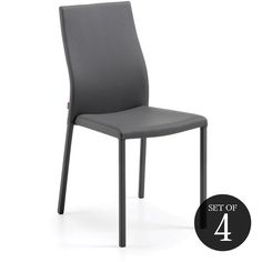 Set of 4 Isobel Dining Chairs - Grey - Dining Chairs - Dining & Kitchen - Furniture
