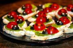 Ladybugs appetizer - too cute