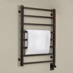 """24"""" Miletos Hardwired Towel Warmer. Oil Rubbed Bronze"""