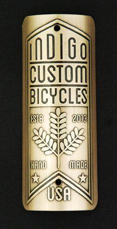 Custom Bike Badge for Indigo Custom Cycles by InsigniaWorks, $45.00
