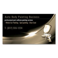 Auto Body Painting   Modern Professional Business Card Magnet   Zazzle.com