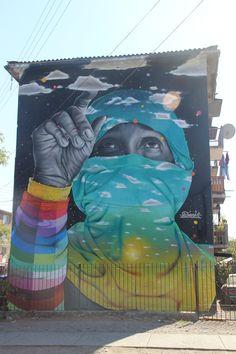 "Street art   Mural ""Día del Joven Combatiente"" (Tristan Matta, Santiago, Chili) by Dasic Fernandez"