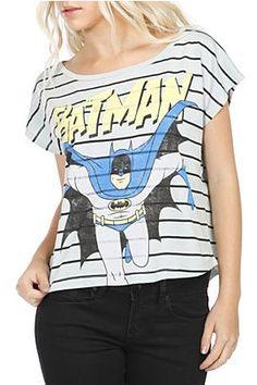 stripped #Batman trapeze top. #DCcomics